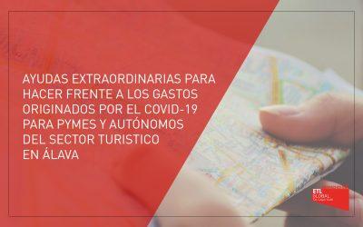 Ayudas extraordinarias para hacer frente a los gastos originados por el Covid-19 para PYMES y Autónomos del sector turístico de Álava 2021