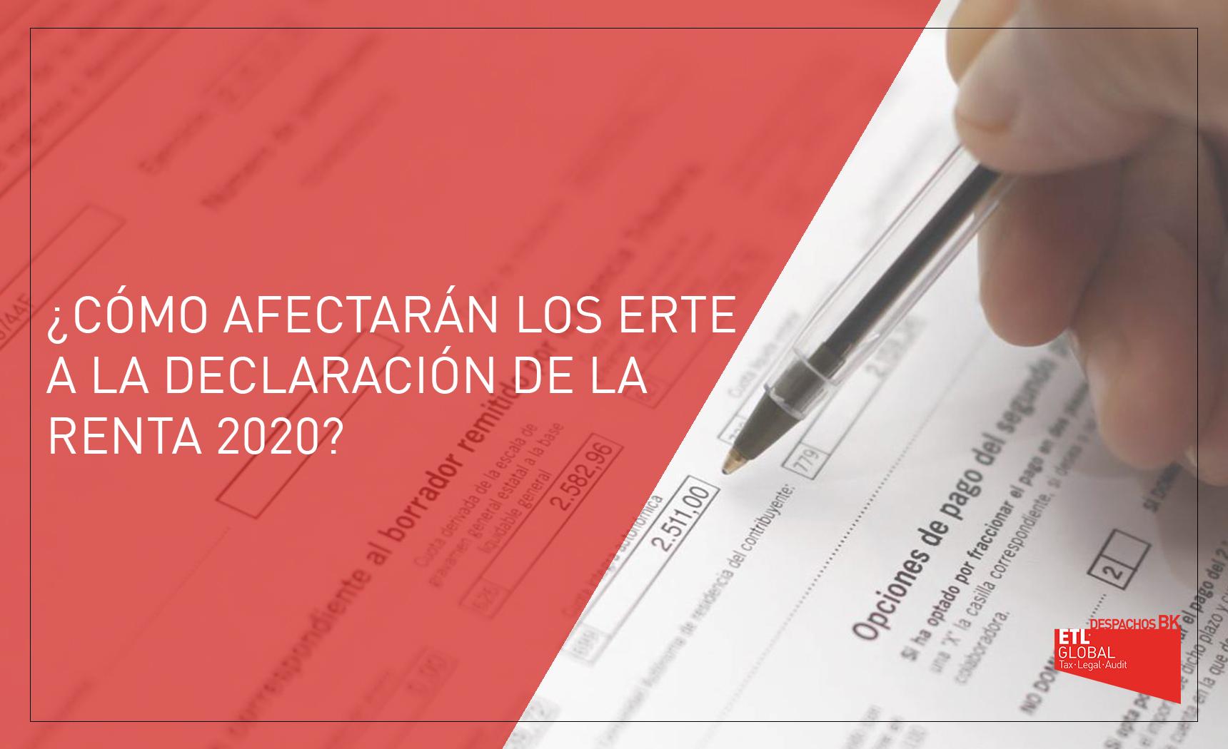 erte y declaración de la renta 2020