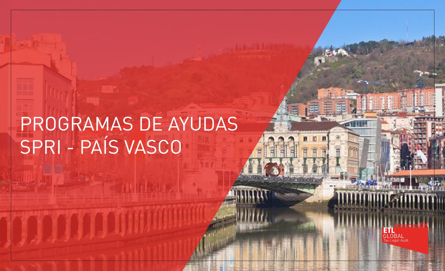programas de ayuda SPRI - País vasco