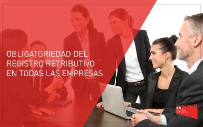 Obligatoriedad del Registro Retributivo en las empresas a partir del 14 de abril de 2021