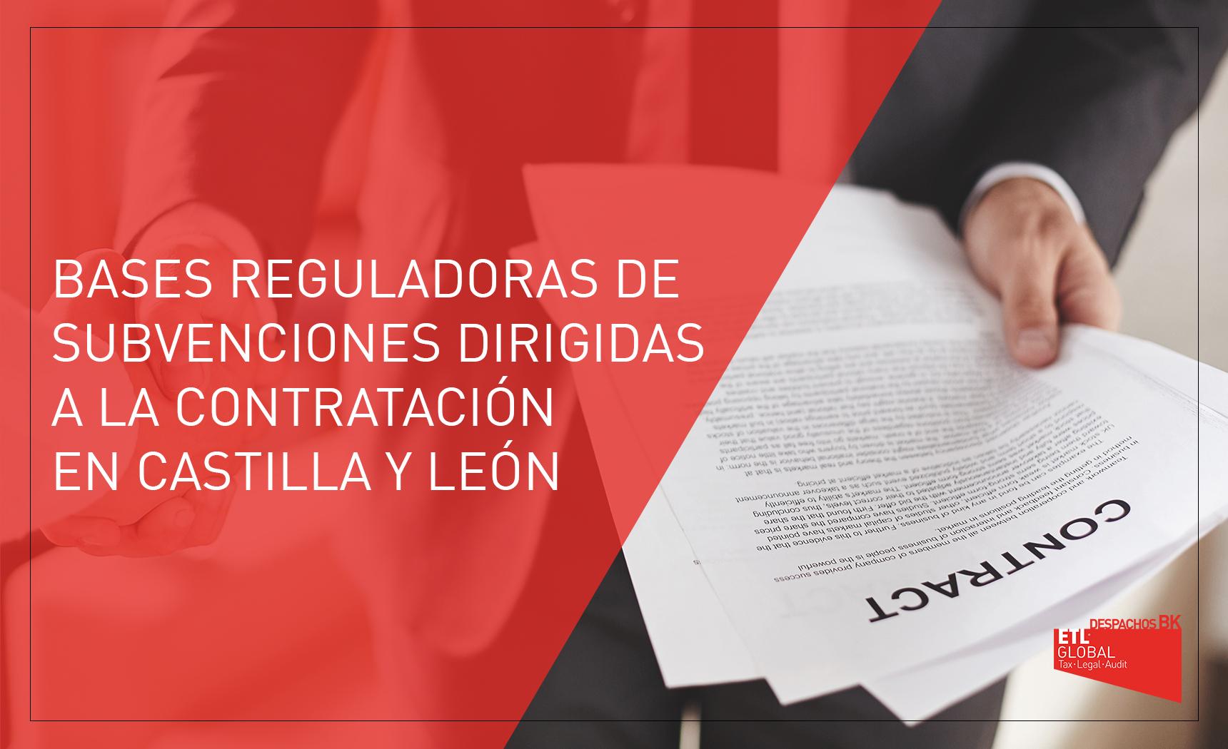 SUBVENCIONES PARA CONTRATACION EN CASTILLA Y LEON