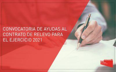 Convocatoria de ayudas al contrato de relevo para el ejercicio 2021