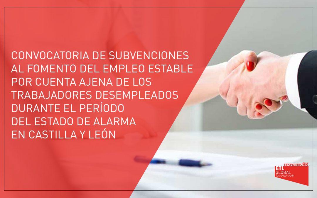 Convocatoria de subvenciones al fomento del empleo estable por cuenta ajena de trabajadores desempleados