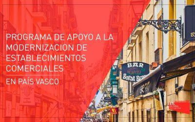 Programa de apoyo a la modernización de establecimientos comerciales en País Vasco