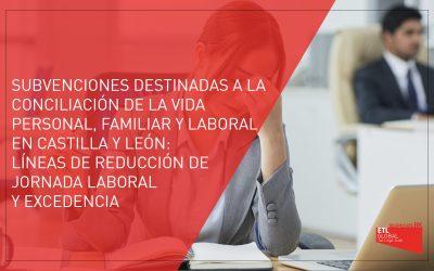 Subvenciones destinadas a la conciliación de la vida personal, familiar y laboral en Castilla y León