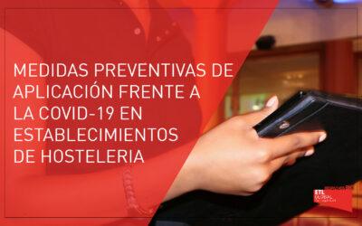 Nuevas medidas preventivas en establecimientos de hostelería: Registro de comensales