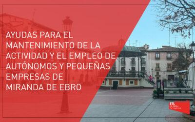 Ayudas dirigidas a autónomos y pequeñas empresas | Miranda de Ebro