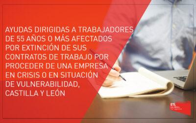 Ayudas a trabajadores con 55 años o más | Castilla y León