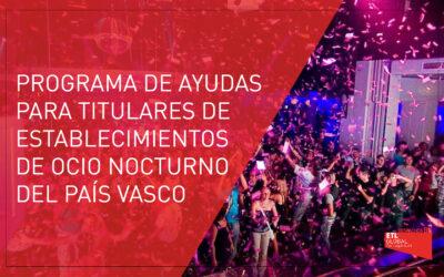 Programa de ayudas para titulares de establecimientos de ocio nocturno del País Vasco
