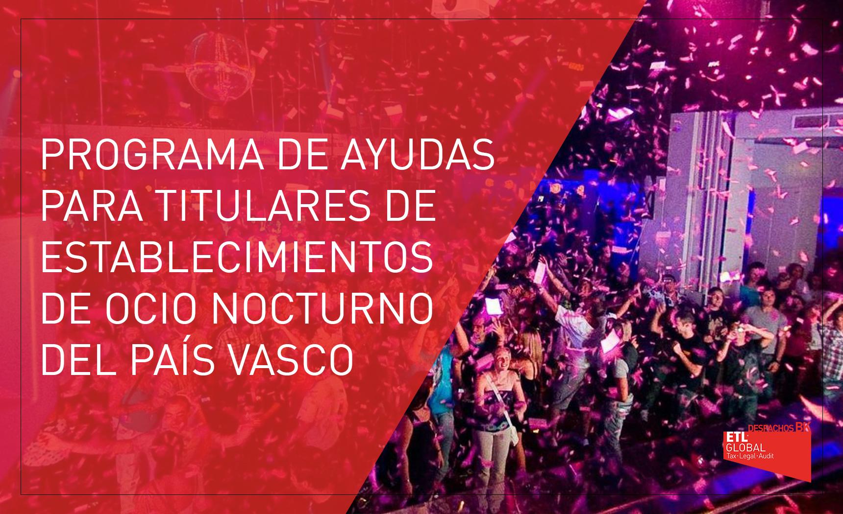 ayudas ocio nocturno País Vasco