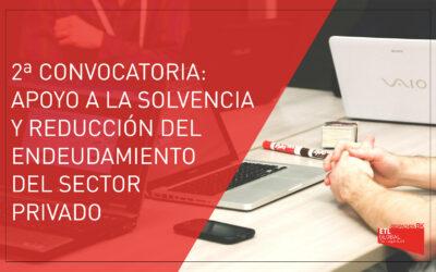 2ª Convocatoria   Ayudas apoyo a la solvencia y reducción del endeudamiento del sector privado   La Rioja