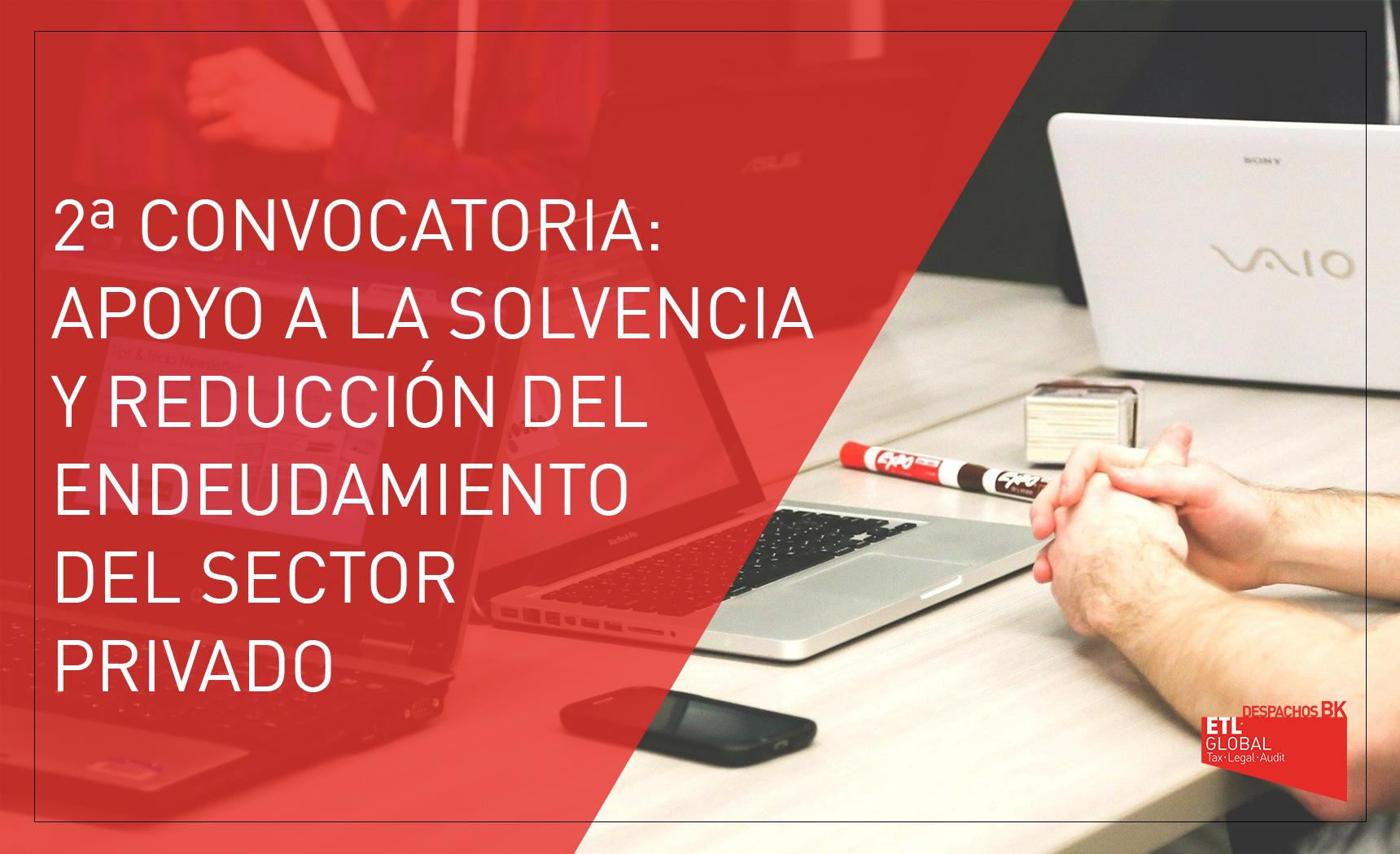 2 convocatoria ayudas endeudamiento sector privado La Rioja